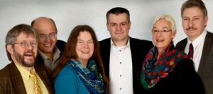 v. L. n. R. - Michael Klenner, Ulli Lütke, Gaby Rohr, Stefan Meiners, Ingrid Hassmann, Jörg Thomas